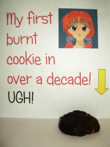 burnt cookie