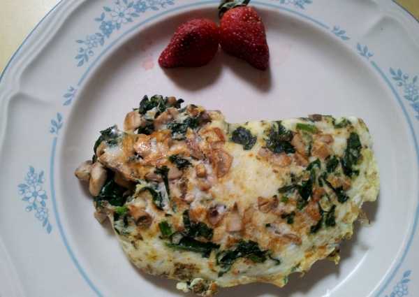 Egg White_Spinach_Mushroom Omelet